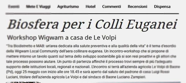 News 25 maggio 2017 - Le Volpi